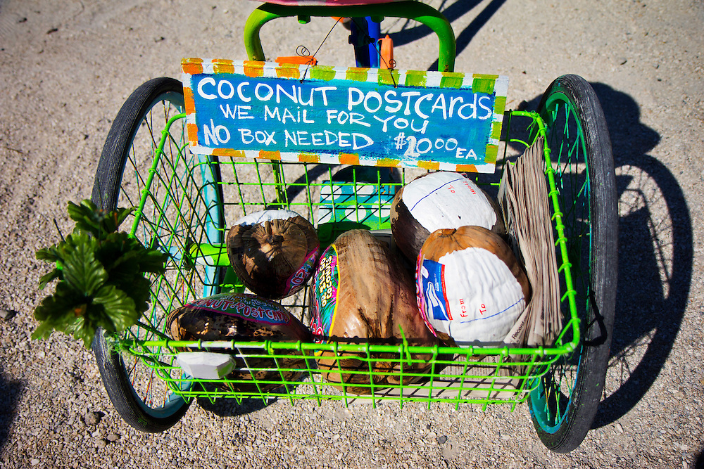 "Coconut postcards, Lovegrove Gallery and Garden. Matlacha (pronounced ""MAT-la-shay"") is located about two hours south of Tampa Bay on Pine Island and is a mix of Key West meets Old Florida fishing village. ""We're a quaint little drinking village with a fishing problem,"" laughs a local who goes by the name Bear..Photos by James and Julie Branaman"