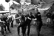 "Members of ""Blood & honnour"" dancing for celebrate the summer solstice."