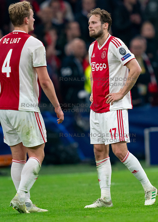 08-05-2019 NED: Semi Final Champions League AFC Ajax - Tottenham Hotspur, Amsterdam<br /> After a dramatic ending, Ajax has not been able to reach the final of the Champions League. In the final second Tottenham Hotspur scored 3-2 / Daley Blind #17 of Ajax, Matthijs de Ligt #4 of Ajax
