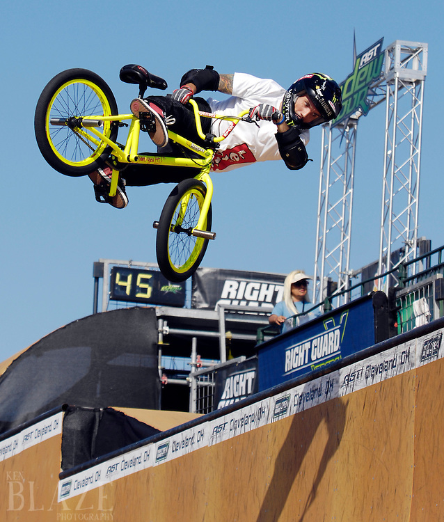 Jamie Bestwick at the BMX Vert Finals at the AST Dew Tour Right Guard Open in Cleveland...Photo by Ken Blaze