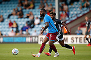 Yann Songo'o Of Scunthorpe United during the Pre-Season Friendly match between Scunthorpe United and Leicester City at Glanford Park, Scunthorpe, England on 16 July 2019.