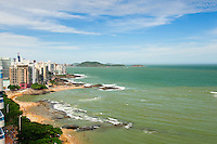 Brasil - Guarapari - Espirito Santo - Vista da Praia das Castanheiras e Praia dos Namorados no Centro de Guarapari - Foto: Gabriel Lordello/ Mosaico Imagem