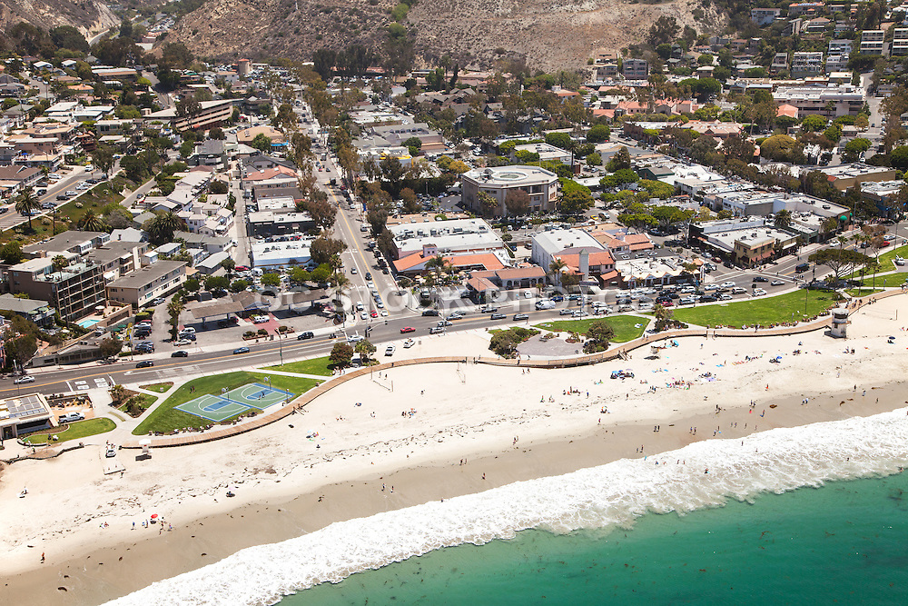 Laguna Beach Aerial Stock Photo