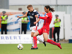 Falkirk's Alex Cooper and Rangers Bilel Moshsni. Falkirk 0 v 2 Rangers, Scottish Championship game played 15/8/2014 at The Falkirk Stadium.