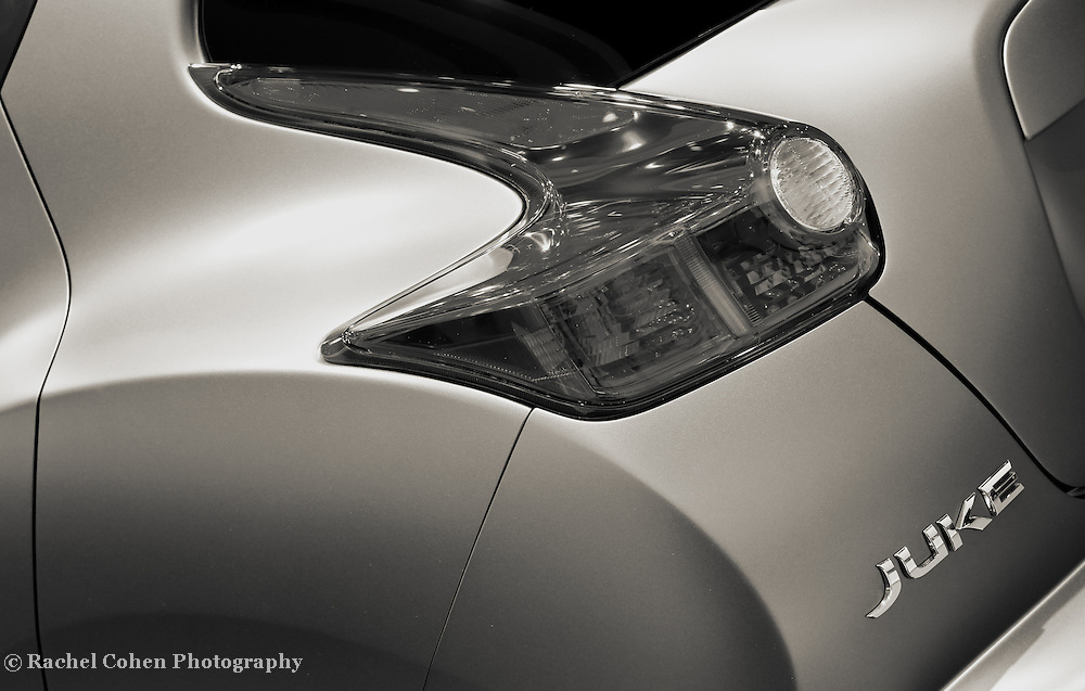 &quot;Nissan Juke Nismo&quot; 1 mono<br /> <br /> A sleek and cool detail image from the Nissan Juke Nismo!<br /> <br /> Cars and their Details by Rachel Cohen