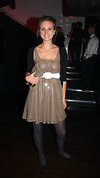 BRYONY DANIELS at a party to celebrate Zandra Rhodes's return to London Fashion week and the launch of a limited edition of M.A.C makeup at Silver, 17 Hanover Square, London W1 on 20th September 2006.<br />