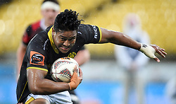 Wellington's Julian Savea against Canterbury in the Mitre 10 Rugby match at Westpac Stadium, Wellington, New Zealand, Sunday September 17,, 2017. Credit:SNPA / Ross Setford  **NO ARCHIVING**