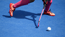 A detailed view of a hockey ball during the match between Japan and New Zealand