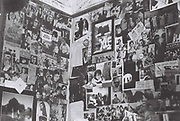 Teenage bedroom wall posters, London, UK, 1983