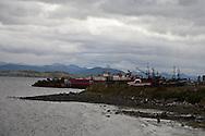 Chile. Puerto Williams  Puerto Williams - fishermen port / Puerto williams la ville la plus australe de la planete   - Chili