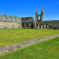 Processional Path at St Andrews Cathedral, Scotland <br />