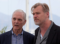 Actor Keir Dullea and Christopher Nolan at the Rendezvous With: Director Christopher Nolan photo call at the 71st Cannes Film Festival, Saturday 12th May 2018, Cannes, France. Photo credit: Doreen Kennedy