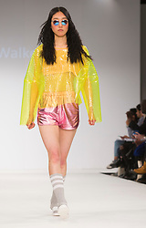 © Licensed to London News Pictures. 31/05/2015. London, UK. Collection by Jessica Walker. Fashion show of the University of Salford at Graduate Fashion Week 2015. Graduate Fashion Week takes place from 30 May to 2 June 2015 at the Old Truman Brewery, Brick Lane. Photo credit : Bettina Strenske/LNP