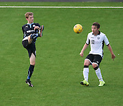 Liam Gibb clears - Dundee v St Johnstone - SPFL development league <br /> <br />  - &copy; David Young - www.davidyoungphoto.co.uk - email: davidyoungphoto@gmail.com