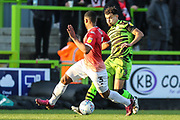 Forest Green Rovers Dominic Bernard(3) on the ball during the EFL Sky Bet League 2 match between Forest Green Rovers and Salford City at the New Lawn, Forest Green, United Kingdom on 18 January 2020.
