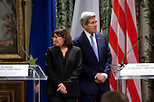 Paris Attacks, John Kerry and Anne Hidalgo meeting