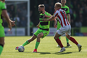 Forest Green Rovers Carl Winchester(7) on the ball during the EFL Sky Bet League 2 match between Forest Green Rovers and Cheltenham Town at the New Lawn, Forest Green, United Kingdom on 20 October 2018.