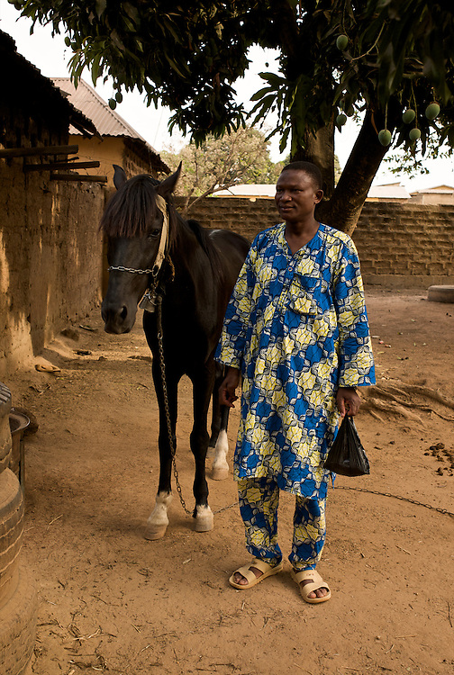 El Hadj Razak and his horse.<br />  <br /> El Hadj Razak et son cheval.