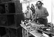 DJ Spinning some decks, Exodus Free Festival, Luton, 1997.