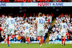 Harry Kane of England celebrates after opening the scoring - Mandatory byline: Matt McNulty/JMP - 07966386802 - 22/05/2016 - FOOTBALL - Etihad Stadium -Manchester,England - England v Turkey - International Friendly