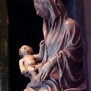 Madonna and child marble sculpture, Castello Sforzesco, Milan, Italy<br />