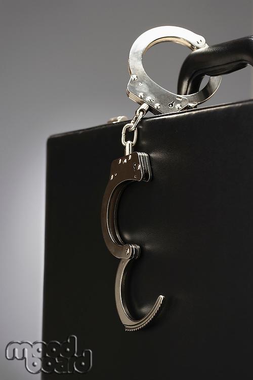 Handcuffs on a Briefcase