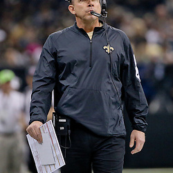 Dec 6, 2015; New Orleans, LA, USA; New Orleans Saints head coach Sean Payton against the Carolina Panthers during the first quarter of a game at Mercedes-Benz Superdome. Mandatory Credit: Derick E. Hingle-USA TODAY Sports