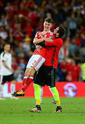 Ben Woodburn of Wales celebrates - Mandatory by-line: Dougie Allward/JMP - 02/09/2017 - FOOTBALL - Cardiff City Stadium - Cardiff, Wales - Wales v Austria - FIFA World Cup Qualifier 2018