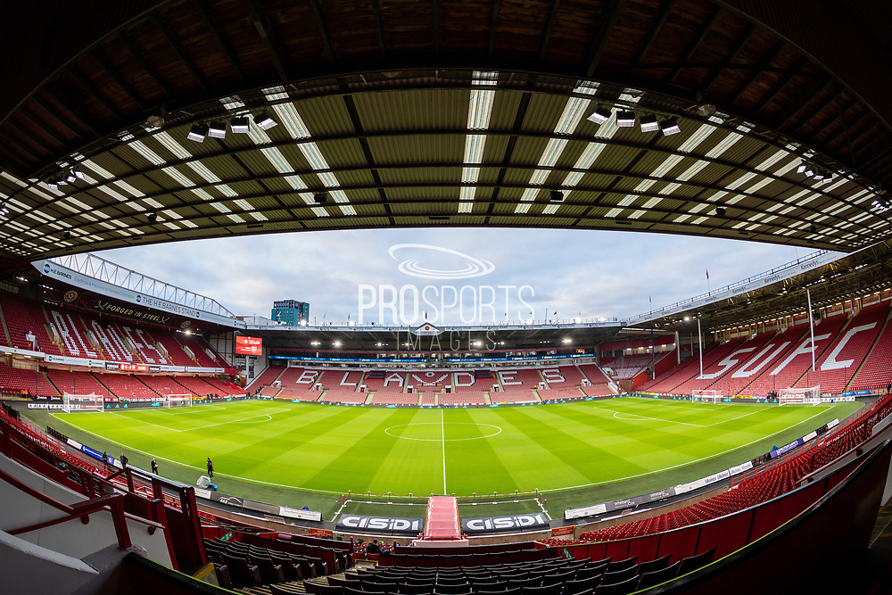 A general picture inside Bramall Lane ahead of the Premier League match between Sheffield United and Arsenal at Bramall Lane, Sheffield, England on 21 October 2019.