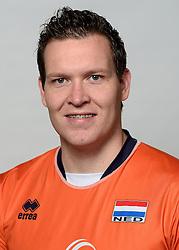 09-05-2014 NED: Selectie Nederlands zitvolleybal team mannen, Leersum<br /> In sporthal De Binder te Leersum werd het Nederlands team zitvolleybal seizoen 2014-2015 gepresenteerd / Bjorn Moris