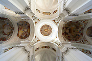 Basilika Weingarten (Barockkirche) innen, Ravensburg, Baden-Württemberg, Deutschland