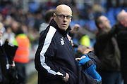 Reading manager Brian McDermott during the Sky Bet Championship match between Reading and Bristol City at the Madejski Stadium, Reading, England on 2 January 2016. Photo by Jemma Phillips.