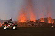 Helldriver - A cameraman from the local news in Iceland escapes from a new opened crater in the erupting volcano Fimmvörðuháls, south Iceland 2010