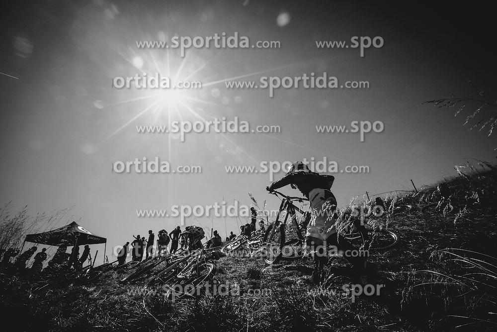 Downhill competition Sorca 2015 at Smucarski center Soriska Planina, Slovenia. Photo by Grega Valancic / Sportida