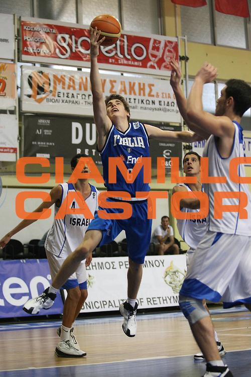DESCRIZIONE : Rethimnon Crete Termosteps U16 European Championship Men Qualifying Round Israel Italy<br /> GIOCATORE : Chinellato<br /> SQUADRA : Italy Italia Nazionale Italiana Uomini Under 16<br /> EVENTO : Rethimnon Crete Termosteps U16 European Championship Men Creta Europeo U16 Uomini <br /> GARA :  Israel Italy Israele Italia<br /> DATA : 26/07/2007 <br /> CATEGORIA : Tiro<br /> SPORT : Pallacanestro <br /> AUTORE : Agenzia Ciamillo-Castoria/M.Marchi <br /> Galleria : Europeo Under 16 <br /> Fotonotizia : Rethimnon Crete Termosteps U16 European Championship Men Qualifying Round Iseael Italy<br /> Predefinita :