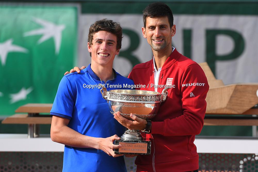 Novak Djokovic (Ser) with geoffrey blancaneaux