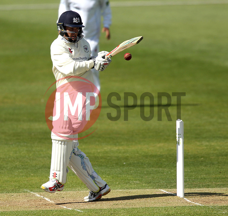 Gloucestershire's Gareth Roderick attempts to pull the ball - Photo mandatory by-line: Robbie Stephenson/JMP - Mobile: 07966 386802 - 28/04/2015 - SPORT - Cricket - Bristol - The County Ground - Gloucestershire v Derbyshire - County Championship Division Two