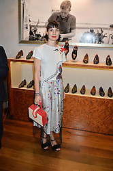 MARIA CASTANI at a party to celebrate the 10th anniversary of Gaziano & Girling's at 39 Savile Row, London on 14th September 2016.