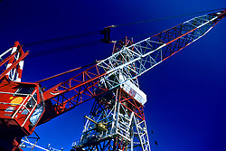 Stock photo of a derrick and crane