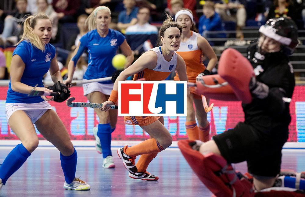 BERLIN - Indoor Hockey World Cup<br /> Quarterfinal 4: Netherlands - Czech Republic<br /> foto: Donja Zwinkels.<br /> WORLDSPORTPICS COPYRIGHT FRANK UIJLENBROEK