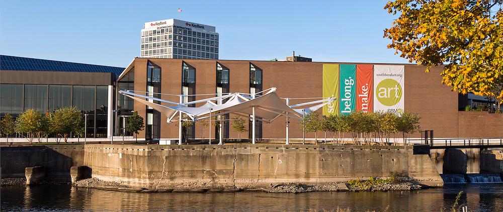Island Park Pavilion, Century Center, South Bend, IN, by Architecture Design Group...Photo by Matt Cashore