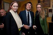 Lily Cole; BRYAN FERRY; katherine Poulton; , BRIONI FRAGRANCE LAUNCH. Annabels. Berkeley Sq. London. 14 October 2009.