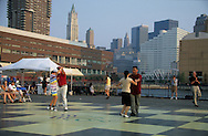 dance on the Hudson river after the destruction  of the world trade center ghosts  New York  Usa