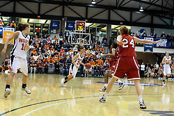 20 March 2010: Allie Cerone brings the ball across mid-court. The Flying Dutch of Hope College fall to the Bears of Washington University 65-59 in the Championship Game of the Division 3 Women's NCAA Basketball Championship the at the Shirk Center at Illinois Wesleyan in Bloomington Illinois.