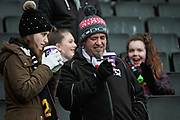 MK Dons fans drinking hot drinks before the EFL Sky Bet League 1 match between Milton Keynes Dons and Bristol Rovers at stadium:mk, Milton Keynes, England on 3 March 2018. Picture by Nigel Cole.