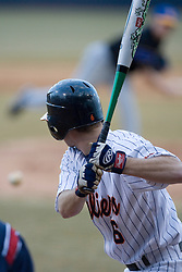 Virginia Cavaliers outfielder Tim Henry (6) at bat against Coppin State.  The Virginia Cavaliers Baseball Team defeated the Coppin State Eagles 12-0 at Davenport Field in Charlottesville, VA on February 21, 2007.