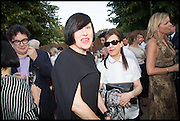ALICE RAWTHORN; MAUREEN PALEY, 2014 Serpentine's summer party sponsored by Brioni.with a pavilion designed this year by Chilean architect Smiljan Radic  Kensington Gdns. London. 1July 2014