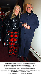 CLARA FISCHER and actor STEVEN BERKOFF, at a party in London on 8th January 2004.PPS 295