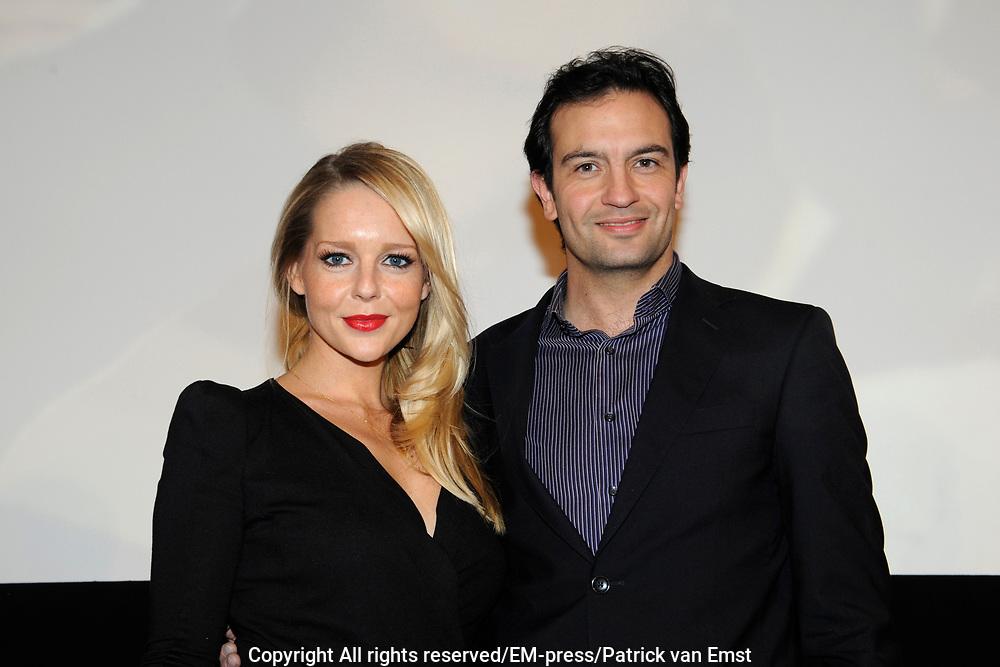 Perspresentatie van de  nieuwe komische dramaserie van RTL Divorce. De serie gaat over drie mannen die noodgedwongen, na een scheiding, bij elkaar intrekken.<br /> <br /> Op de foto:  Chantal Janzen en Jeroen Spitzenberger