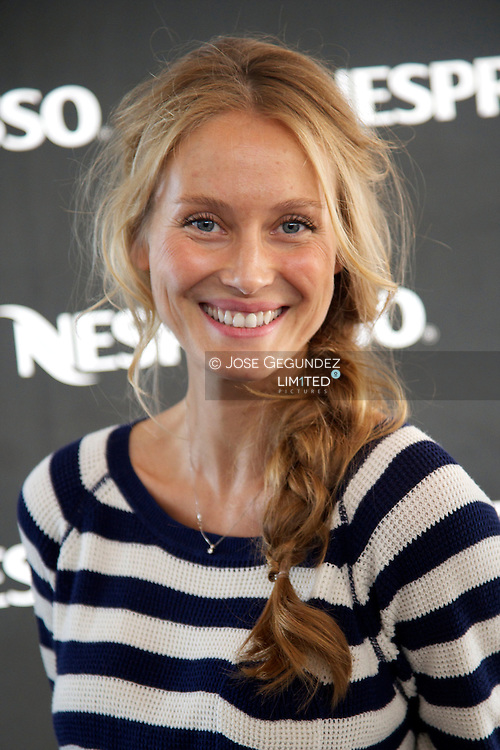 Spanish model Vanesa Lorenzo presents 'My Nespresso Brunch' at the Club Nautico during the 32th Copa del Rey Mapfre Sailing Cup day 4 on August 1, 2013 in Mallorca, Spain